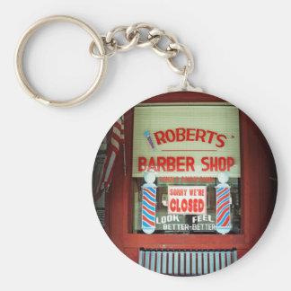 Roberts Barber Shop Key Chain