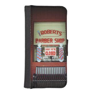 Roberts Barber Shop iPhone 5 Wallet Case