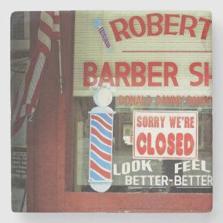 Roberts Barber Shop Stone Coaster