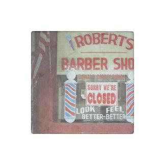 Roberts Barber Shop Stone Magnet