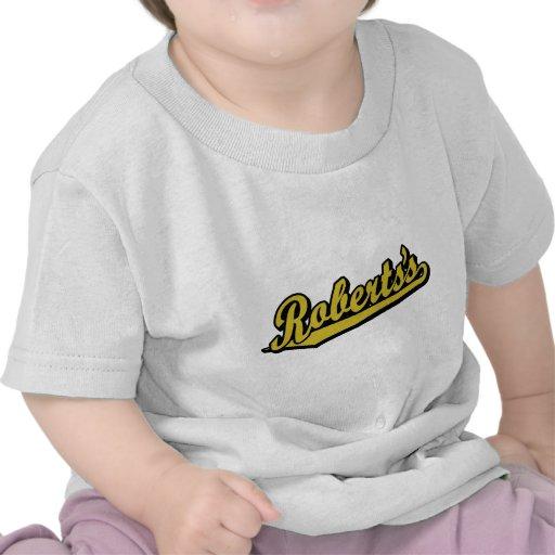 Roberts en oro camiseta