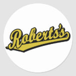 Roberts en oro etiqueta redonda