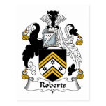Roberts Family Crest Postcard