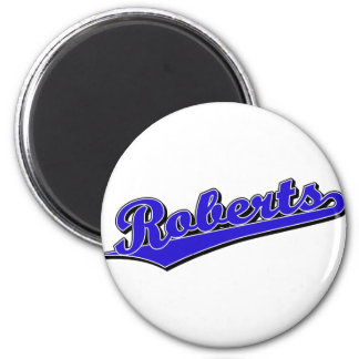Roberts in Blue 2 Inch Round Magnet