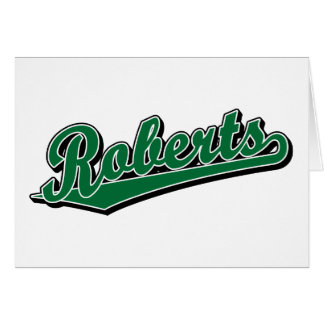 Roberts in Green Greeting Cards