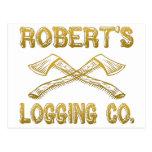 Robert's Logging Company Postcard