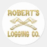 Robert's Logging Company Round Sticker