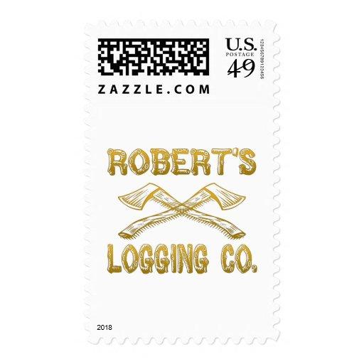 Robert's Logging Company Stamps