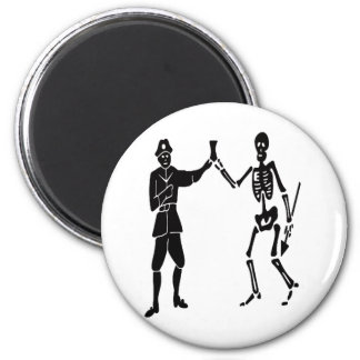 Roberts pirate flag 2 inch round magnet