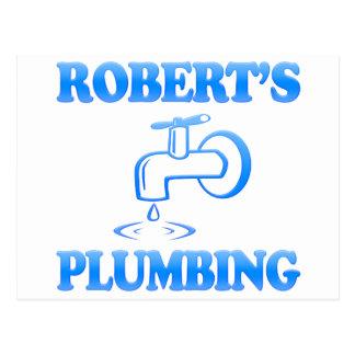Robert's Plumbing Postcard
