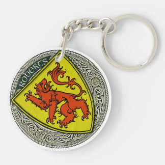 Roberts (Wales) Family Arms Keychain