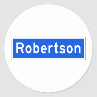 Robertson Boulevard, Los Angeles, CA Street Sign Classic Round Sticker
