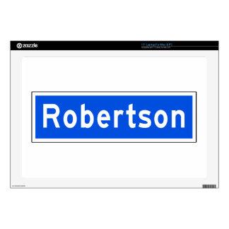 Robertson Boulevard, Los Angeles, CA Street Sign Laptop Decal