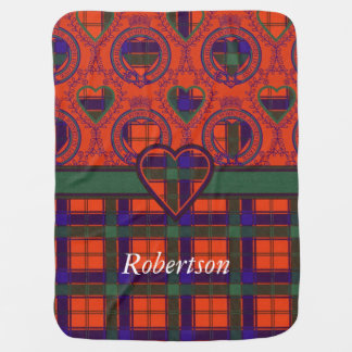 Robertson clan Plaid Scottish tartan Baby Blanket