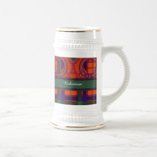 Robertson clan Plaid Scottish tartan Beer Stein