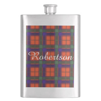 Robertson clan Plaid Scottish tartan Hip Flask