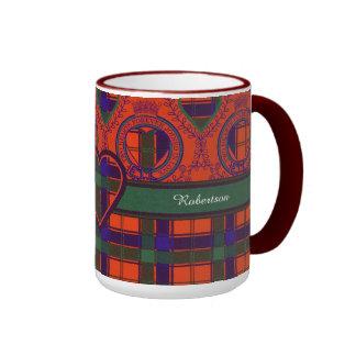 Robertson clan Plaid Scottish tartan Ringer Mug