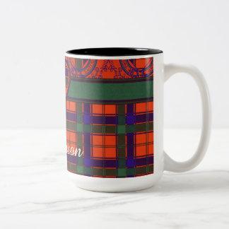 Robertson clan Plaid Scottish tartan Two-Tone Coffee Mug