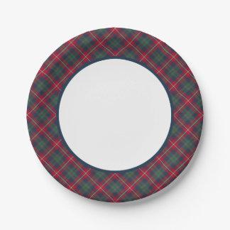 Robertson Clan Tartan Border Paper Plate