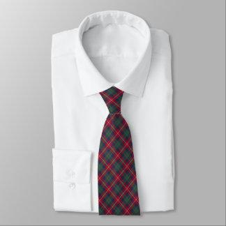 Robertson Clan Tartan Red and Blue Plaid Tie