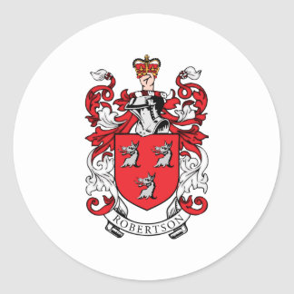 Robertson Family Coat of Arms Classic Round Sticker