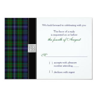 Robertson Hunting Tartan Celtic Wedding RSVP Reply Card