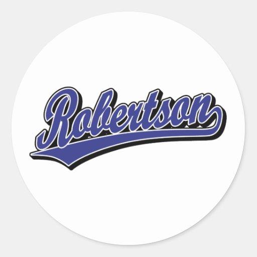 Robertson script logo in blue deluxe sticker
