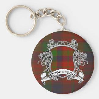 Robertson Tartan Shield Keychain