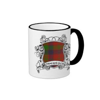 Robertson Tartan Shield Ringer Mug