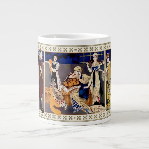 Robes style Bakst realisees par Paquin 20 Oz Large Ceramic Coffee Mug