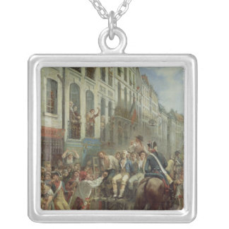 Robespierre  and Saint-Just Silver Plated Necklace