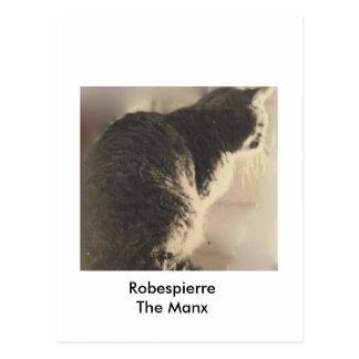 Robespierre el manx, 1977 tarjeta postal