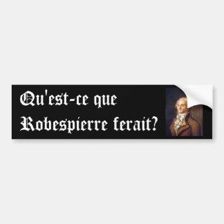 Robespierre (subtítulo francés) pegatina para auto