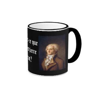 Robespierre (subtítulo francés) taza a dos colores
