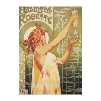Robette Absinthe Advertisement Poster Canvas Print
