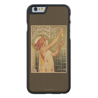 Robette Absinthe Advertisement Poster Carved Maple iPhone 6 Slim Case