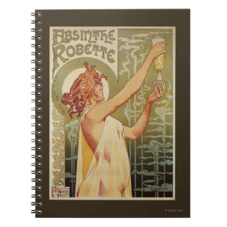 Robette Absinthe Advertisement Poster Spiral Notebooks