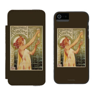 Robette Absinthe Advertisement Poster Wallet Case For iPhone SE/5/5s