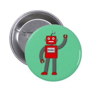 Robi el botón retro del robot pins