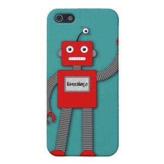 Robi el caso retro del iPhone 4 del robot iPhone 5 Carcasas