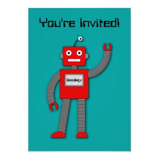 Robi la invitación retra del robot