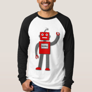 Robi the Retro Robot Top Shirts