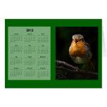 Robin 2012 Calendar Greeting Card