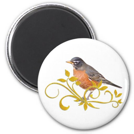Robin 2 Inch Round Magnet