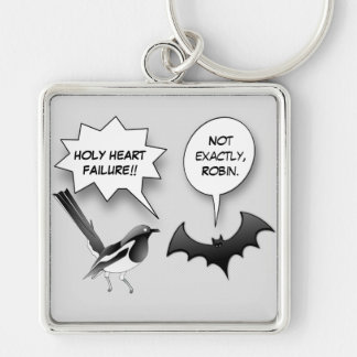 Robin and Bat Comic Keychain
