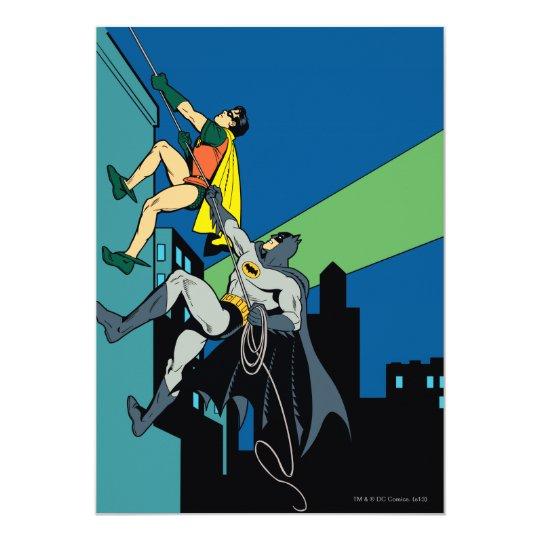 Robin And Batman Climb Invitation Zazzle Com