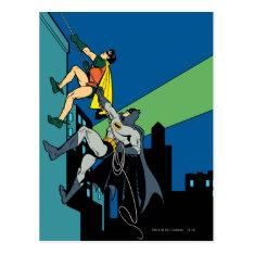 Robin And Batman Climb Postcard at Zazzle