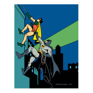Robin And Batman Climb Postcard