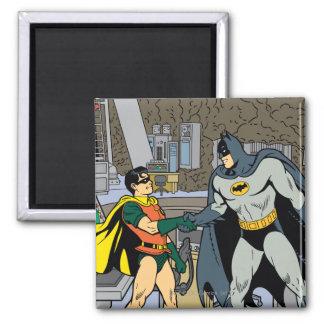 Robin And Batman Handshake Magnet