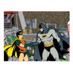 Robin And Batman Handshake Postcard